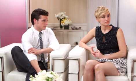 Josh Hutcherson with Jennifer Lawrence