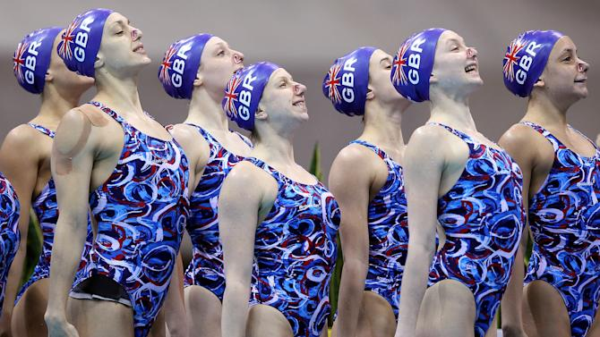 BESTPIX  FINA Olympic Games Synchronised Swimming Qualification - LOCOG Test Event for London 2012: Previews