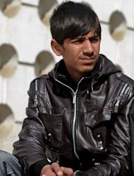 Afghan actor Fawad Mohammadi during an interview with AFP in Kabul on February 9, 2013. Mohammadi, 14, was selling maps to passing foreigners on Kabul's Chicken Street to help feed his family when he met US director Sam French