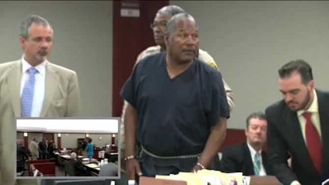 Raw: OJ Simpson Arrives for Court Hearing in Handcuffs