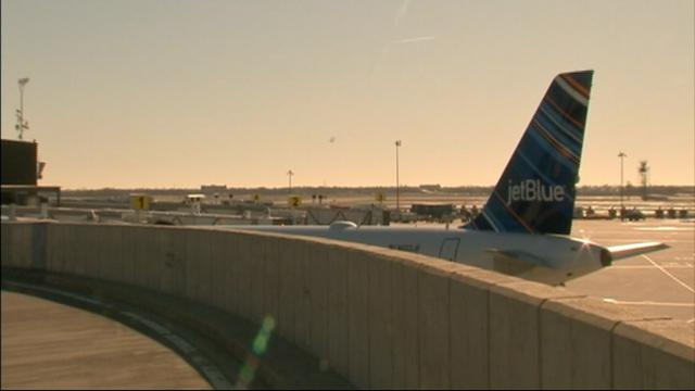 Plane Clipped on JFK Taxiway