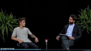 Justin Bieber and Zach Galifinakis