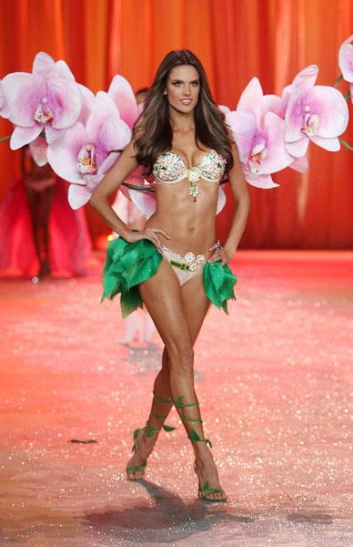 Alessandra Ambrosio at the Victoria's Secret Fashion Show 2012