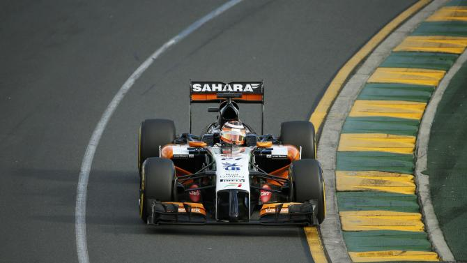 Force India Formula One driver Hulkenberg of Germany drives during the Australian F1 Grand Prix in Melbourne