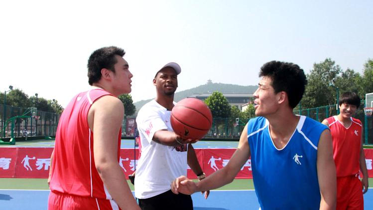 NBA Player Chuck Hayes Visits China