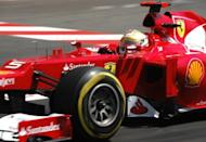 Ferrari driver Fernando Alonso drives during the third practice session ahead of the Monaco Grand Prix. Michael Schumacher rolled back the years on Saturday with the fastest lap in qualifying for Sunday's Monaco Grand Prix, although Australian Red Bull driver Mark Webber will start the race from pole position
