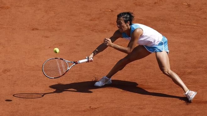 Italy's Francesca Schiavone Hits AFP/Getty Images