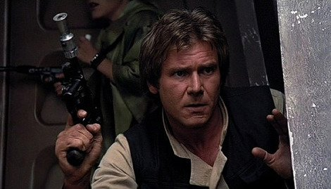 Han Solo's DL-44 Blastech pistol in action.