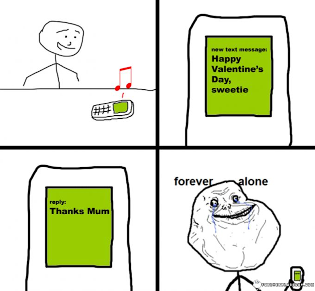 view images happy forever alone pinto s day - Forever Alone Valentines Day