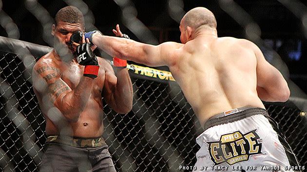 Glover Teixeira lands a punch on Quinton Jackson.