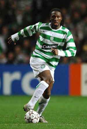 Celtic said everyone at the club is thinking about former player Evander Sno, pictured, who suffered a cardiac arrest on Saturday