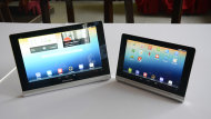 The Lenovo Yoga Tablet has two variants, the Yoga Tablet 8 and the Yoga Tablet 10.