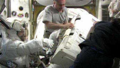 Spacewalkers Take On Space Station Repair Job