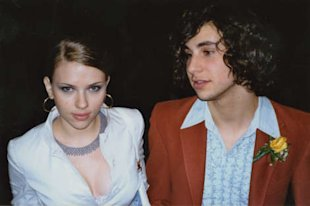 Scarlett Johansson and Jack Antonoff at their high school prom in 2002 at Professional Children's School.