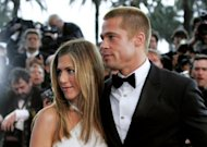 File photo shows Brad Pitt and Jennifer Aniston at the 57th Cannes Film Festival in 2004. Aniston married Pitt in 2000, but the marriage ended in divorce in 2005 following reports that Pitt had been unfaithful to Aniston with actress Angelina Jolie