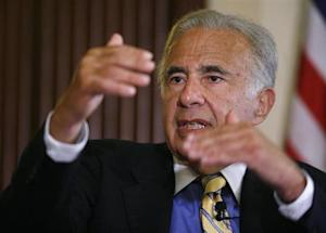 Investor Carl Icahn speaks at the Wall Street Journal Deals & Deal Makers conference, held at the New York Stock Exchange