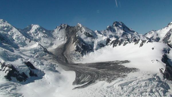 A rockfall from Mount Dixon struck in Aoraki Mount Cook National Park in New Zealand on Monday (Jan. 21).