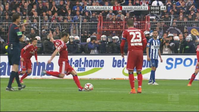 Football - HIGHLIGHTS: Hamburg survive dramatic relegation play-off
