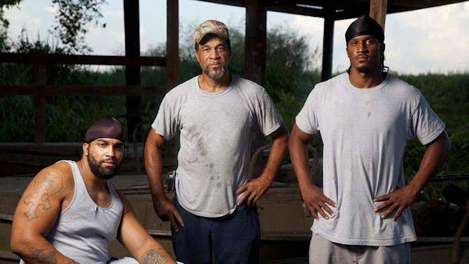 """Kenwood, Butch and Anthony as seen in """"Swamp People"""""""