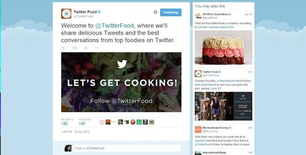 Twitter to curate top tweets with official food account