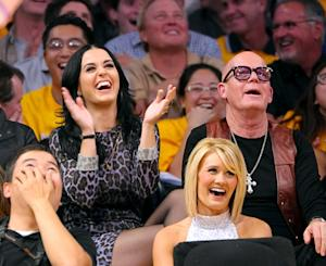 PICTURES: Katy Perry, Russell Brand Both Attend L.A. Lakers Game