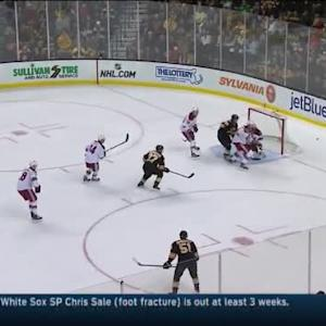 Mike Smith Save on Dougie Hamilton (10:57/1st)