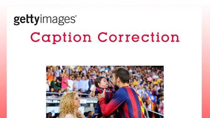 CAPTION CORRECTION: FC Barcelona v Sevilla FC - La Liga