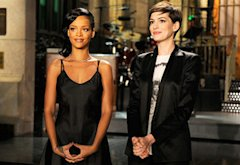 Rihanna and Anne Hathaway | Photo Credits: NBC