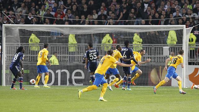 Europa League - Juventus leave it late to beat Lyon