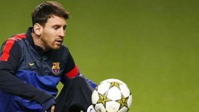 Champions League - Barcelona upbeat on Messi fitness before PSG clash