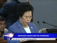 Sen. Miriam Defensor Santiago files a bill that seeks to ban the padrino system or political recommendations in government agencies. For more news click here.