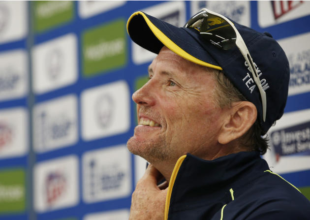 Sri Lanka's Head Coach Graham Ford talks to the media during the press conference