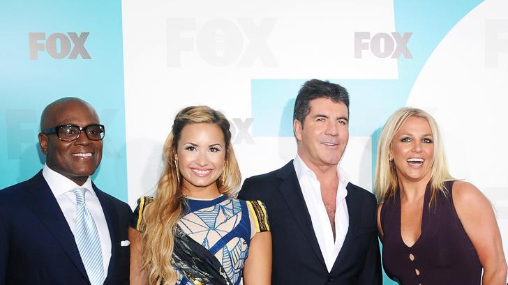 Fox 2012 Programming Presentation Post-Show Party - L.A. Reid, Demi Lovato, Simon Cowell and Britney Spears