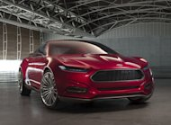 The Ford Evos concept previews the look of the next Ford Fusion.