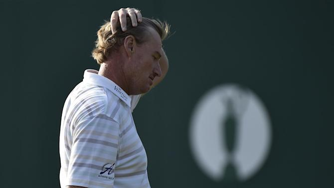 The Open Championship - Blood spilt as Els 'puts jinx' on his group
