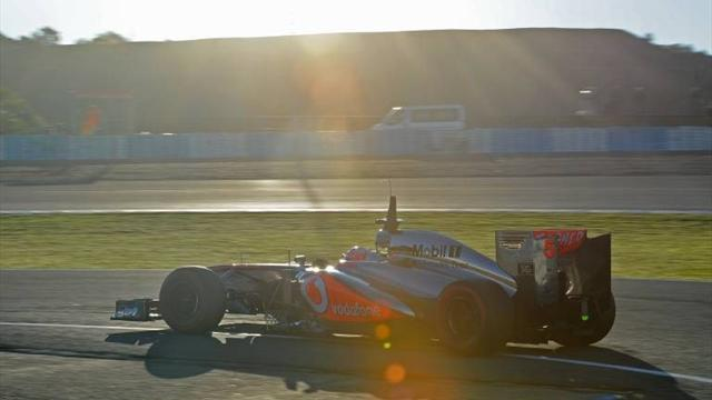 Formula 1 - McLaren's Button quickest on day one at Jerez