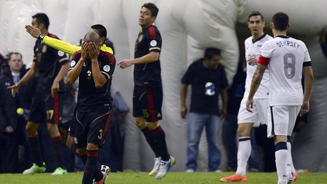 Concacaf Football  - Battling US frustrate Mexico at Azteca