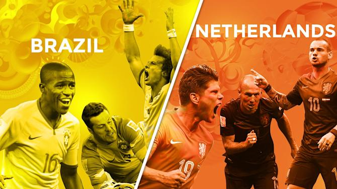 World Cup - Brazil v Netherlands: LIVE