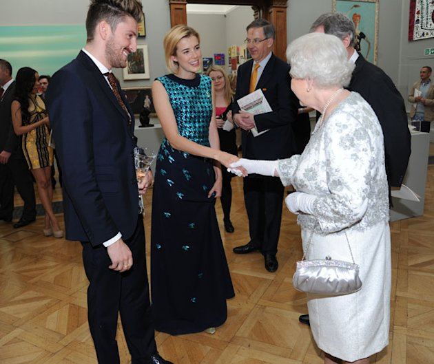 Henry Holland and Agyness Deyn meet Queen Elizabeth II A Celebration of the Arts at the Royal Academy of Arts
