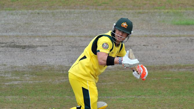 David Warner scored just four runs in the opening Test against South Africa
