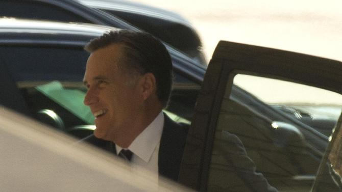 Former Republican presidential candidate Mitt Romney arrives at the White House in Washington, Thursday, Nov. 29, 2012, for his luncheon with President Barack Obama. (AP Photo/Pablo Martinez Monsivais)