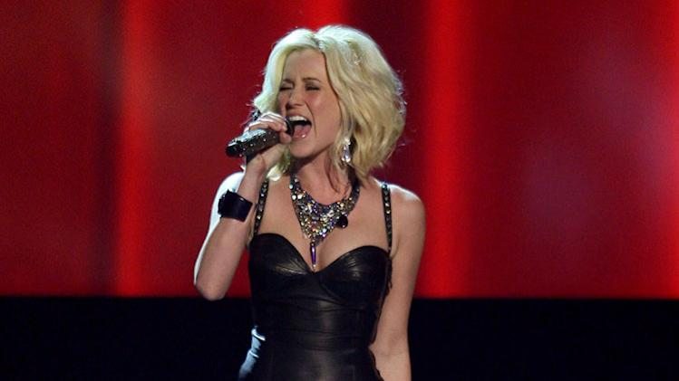 Singer Kellie Pickler performs on stage during the 42nd Annual CMA Awards at the Sommet Center on November 12, 2008 in Nashville, Tennessee.