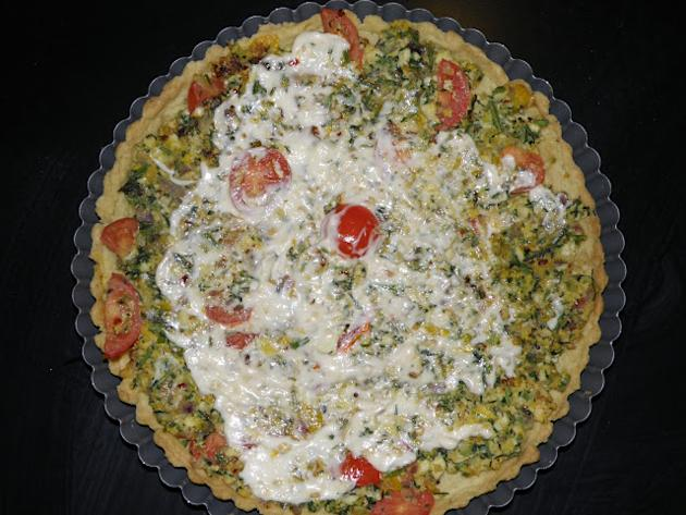 Carrot Leaves & Walnut Quiche