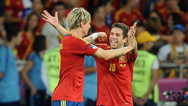 Football - Alba savours Spain brace