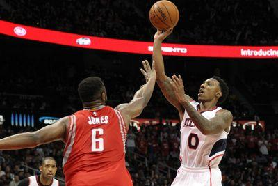 NBA scores 2015: Hawks come back from 18 down to beat James Harden-less Rockets