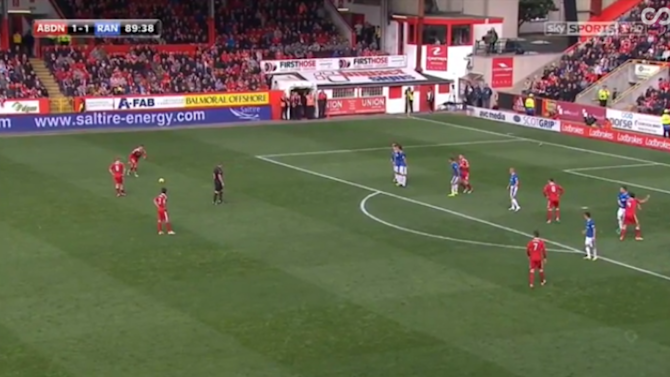 VIDEO: That's How It's Done! Aberdeen's Maddison Sinks Rangers With Stunning Last Minute Free-Kick