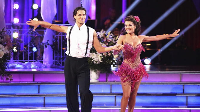 Gleb Savchenko and Lisa Vanderpump (4/8/13)