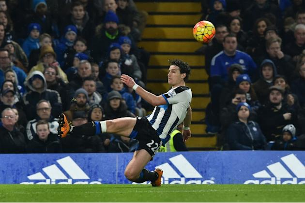 Newcastle United defender Daryl Janmaat during the Premier League match against Chelsea at Stamford Bridge on February 13, 2016