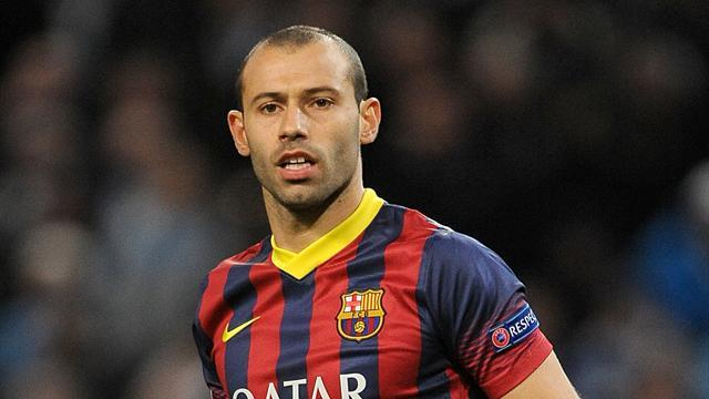 Liga - Mascherano hints at Barca exit