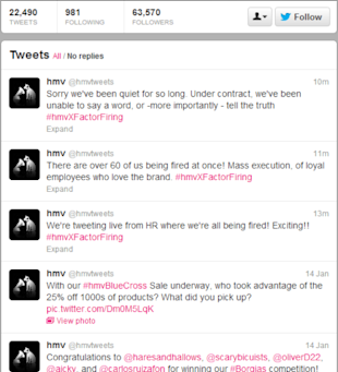 HMV: Companies Don't Tweet, People Do! image hmvtweets 1